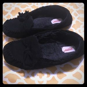Black Moccasin slippers